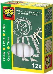 SES CREATIVE Køídy bílé kulaté set 12ks v krabici