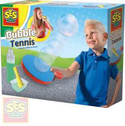 SES CREATIVE Zábavný tenis s bublinami set pìnová pálka s bublifukem a doplòky