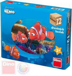 DINO DØEVO Kostky obrázkové Hledá se Nemo set 12ks kubus *DØEVÌNÉ HRAÈKY*