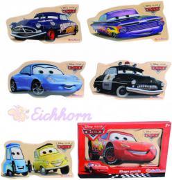 EICHHORN Disney CARS (Auta) Puzzle døevìná skládaèka 6 druhù