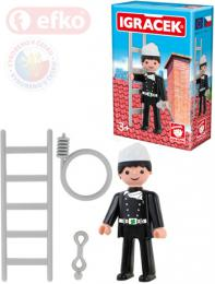 EFKO IGRÁÈEK Kominík figurka 7,5cm s doplòky v krabièce STAVEBNICE