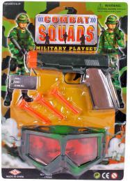 Pistole plastová se soft náboji vojenský army set s krytem na oèi a známkou