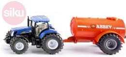 SIKU Traktor modrý set s cisternou 1:50 model kov 1945