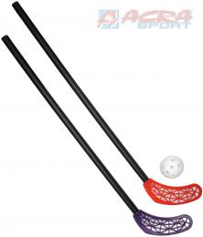 ACRA Sada florbalová RS LASER KID 2 dìtské hokejky 65cm + míèek