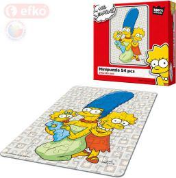EFKO Puzzle The Simpsons Holky ze Spriengfieldu skládaèka 15x21cm 54 dílkù v krabici
