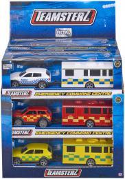 Teamsterz záchranné složky set auto kovové s karavanem rùzné druhy