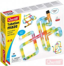 QUERCETTI Tubation Maze 3D potrubí transparentní 44 dílkù STAVEBNICE