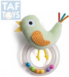 TAF TOYS Baby chrastítko plyšový ptáèek s kulièkami pro miminko