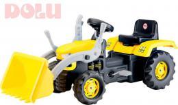 DOLU Traktor dìtský šlapací s rypadlem žlutý plast
