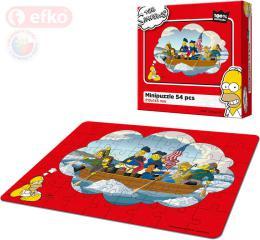 EFKO Puzzle The Simpsons Pánská jízda skládaèka 21x15cm 54 dílkù v krabici