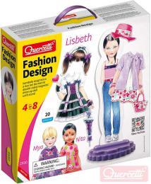 QUERCETTI Fashion Design Lisbeth magnetické šablony obleè panenku