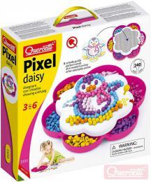 QUERCETTI Hra Pixel Daisy mozaika kopretina s kolíèky set 240ks + 3 pøedlohy