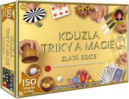 Sada Kouzla, triky, magie zlatá edice 150 kouzel a trikù v krabici dárek Zdarma