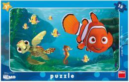 DINO Puzzle deskové 15 dílkù Hledá se Nemo a želva skládaèka 25x15cm