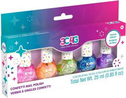 MAKE IT REAL Dìtské laky na nehty s konfetami set 5ks v krabici