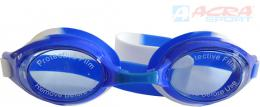 ACRA Plavecké brýle dìtské Brother anti-fog silikon modré