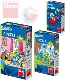 DINO Puzzle Šmoulové 23,5x21,5cm 60 dílkù 6 druhù v krabièce