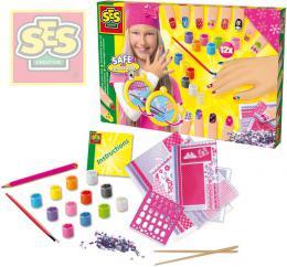 Kreativní holèièí set s laky a kamínky ozdob si své nehty SES 14975
