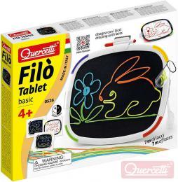 QUERCETTI Filo Tablet Basic kreslení tkanièkami na suchý zip / malování fixami 2v1