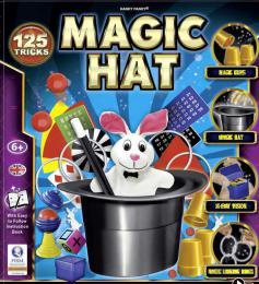 Škola kouzel Magický klobouk sada kouzel a 125 trikù s doplòky v krabici