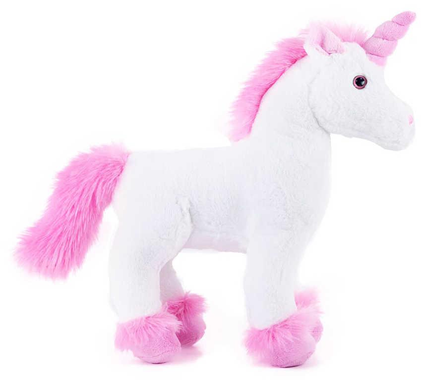 PLYŠ Jednorožec 32cm růžovo-bílý koník *PLYŠOVÉ HRAČKY*