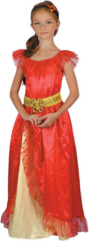 KARNEVAL Šaty Princezna červená vel.L (130-140cm) 9-12 let KOSTÝM