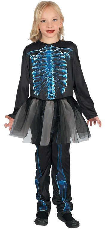 KARNEVAL Šaty kostra vel.L (130-140 cm) 9-12 let KOSTÝM