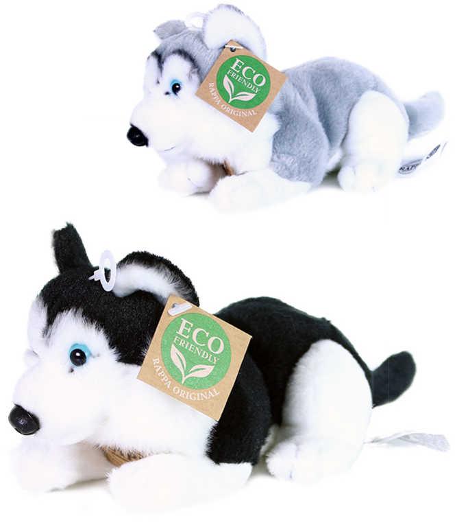 PLYŠ Pes husky ležící 17cm Eco-Friendly 2 barvy *PLYŠOVÉ HRAČKY*