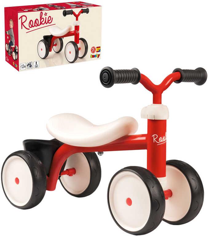SMOBY Baby odrážedlo Rookie červené odstrkovadlo s košíkem