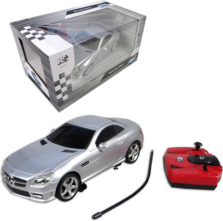 RC Auto Mercedes SLK350 osobní vůz 1:18 na vysílačku 27MHz na baterie Světlo 2 b