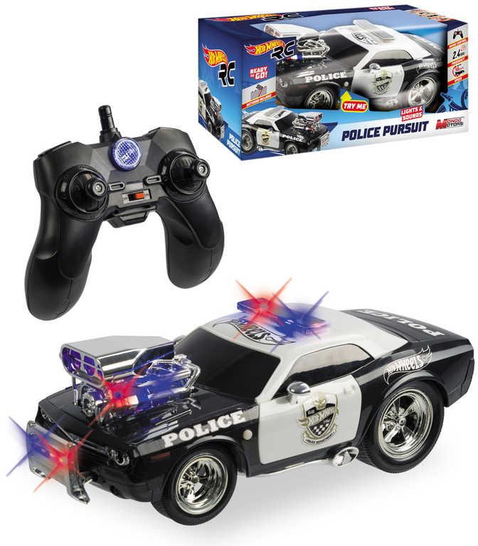 MATTEL Hot Wheels RC Auto policie na vysílačku 2,4GHz na baterie Světlo Zvuk
