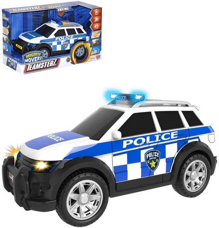 Teamsterz SUV policie osobní sportovní vůz na baterie Světlo Zvuk v krabici plast