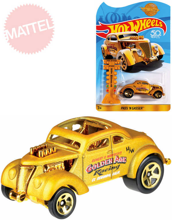 HASBRO HOT WHEELS Auto angličák zlatý model 1:64 Pass n Gasser kov