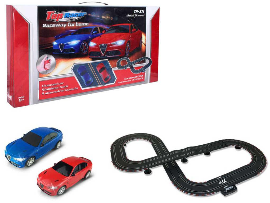 Top Racer autodráha zloděj a policajt 3,8m Alfa Romeo na trafo