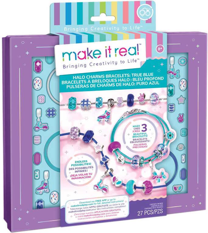 MAKE IT REAL Výroba náramků modrá kreativní set v krabici