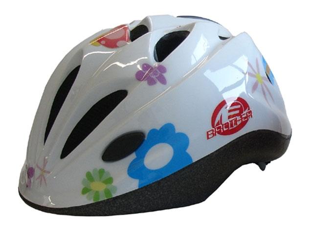 ACRA Helma dětská cyklistická na kolo potisk bílá Vel.M (52-56cm) Brother