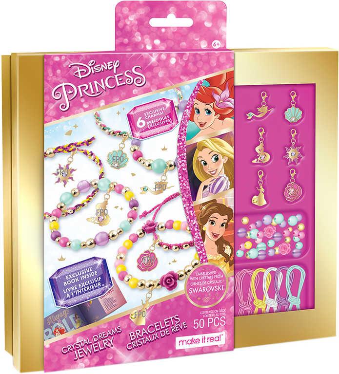 MAKE IT REAL Výroba náramků Princezny kreativní set s kamínky Swarovski